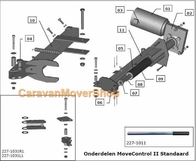 mover/reich-standaard-II-exploded-view